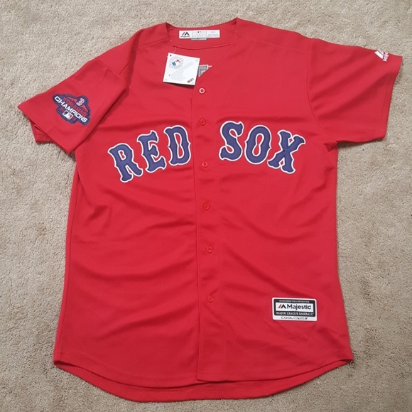 new arrival 23aeb 74a5d Mookie Betts Red Sox World Series Jersey New Mens NWT